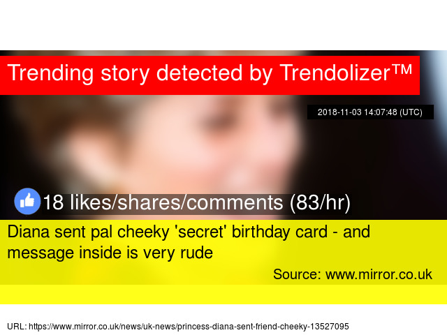 Diana Sent Pal Cheeky Secret Birthday Card