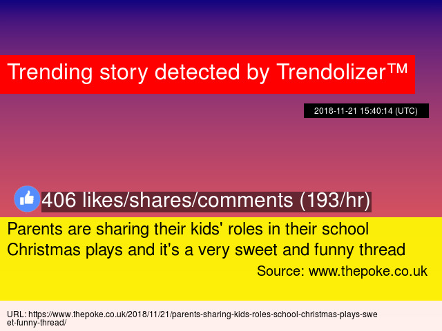 Parents are sharing their kids' roles in their school Christmas plays and it's a very sweet and funny thread