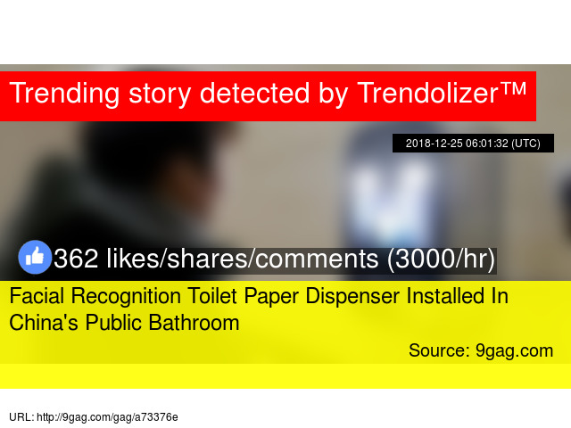 Facial Recognition Toilet Paper Dispenser Installed In China's