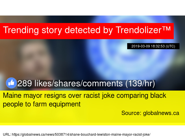 Maine mayor resigns over racist joke comparing black people to farm