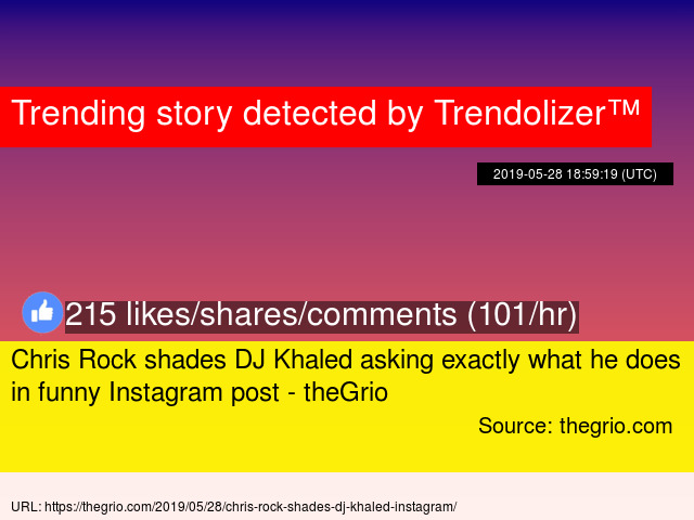 Chris Rock shades DJ Khaled asking exactly what he does in