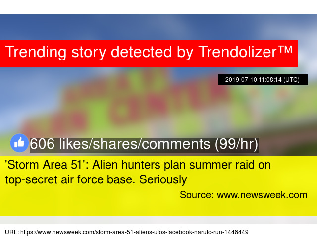 Storm Area 51': Alien hunters plan summer raid on top-secret air