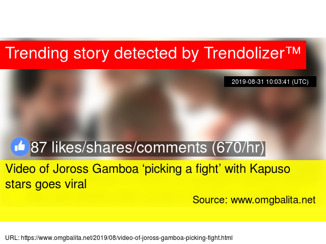 Video of Joross Gamboa 'picking a fight' with Kapuso stars