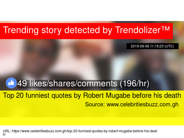 Top 20 Funniest Quotes By Robert Mugabe Before His Death