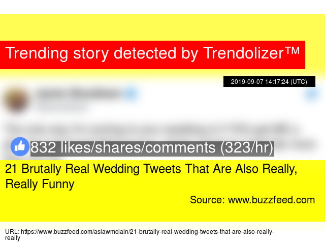21 Brutally Real Wedding Tweets That Are Also Really, Really