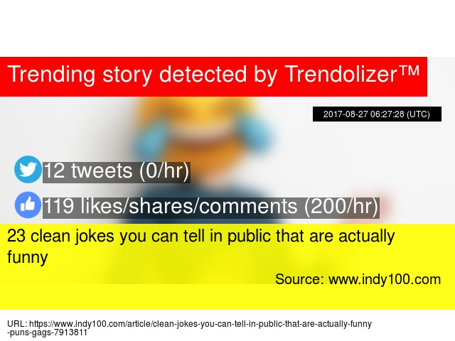 23 clean jokes you can tell in public that are actually funny